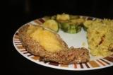 Pecan-Crusted Sea Bass with MangoSauce